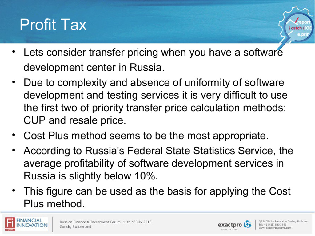 Profit Tax • Lets consider transfer pricing whe...