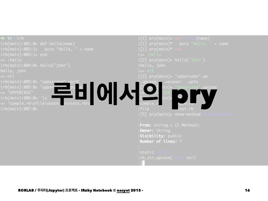 ܖ࠺ীࢲ pry RORLAB / ೖఠ(Jupyter) ۽ં - IRuby No...