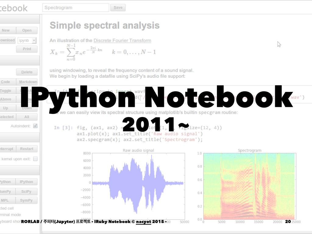 IPython Notebook 2011~ RORLAB / ೖఠ(Jupyter) ۽...