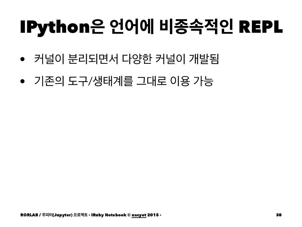 IPython যী ࠺ઙࣘੋ REPL • ழօ ܻ࠙غݶࢲ নೠ ழօ ѐߊؽ...