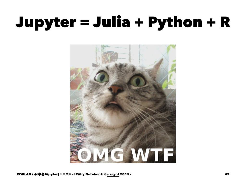 Jupyter = Julia + Python + R RORLAB / ೖఠ(Jupyt...