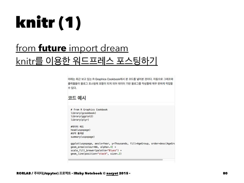 knitr (1) from future import dream knitrܳ ਊೠ ਕ...