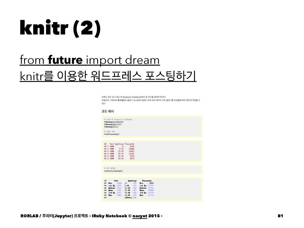 knitr (2) from future import dream knitrܳ ਊೠ ਕ...