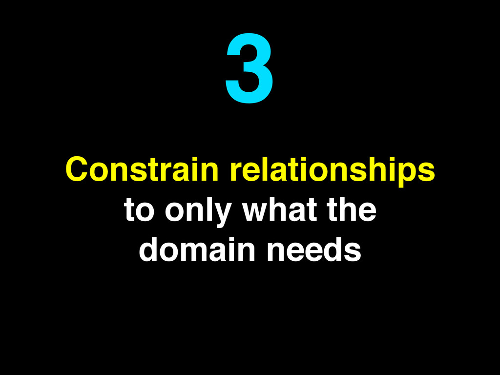 Constrain relationships to only what the domain...