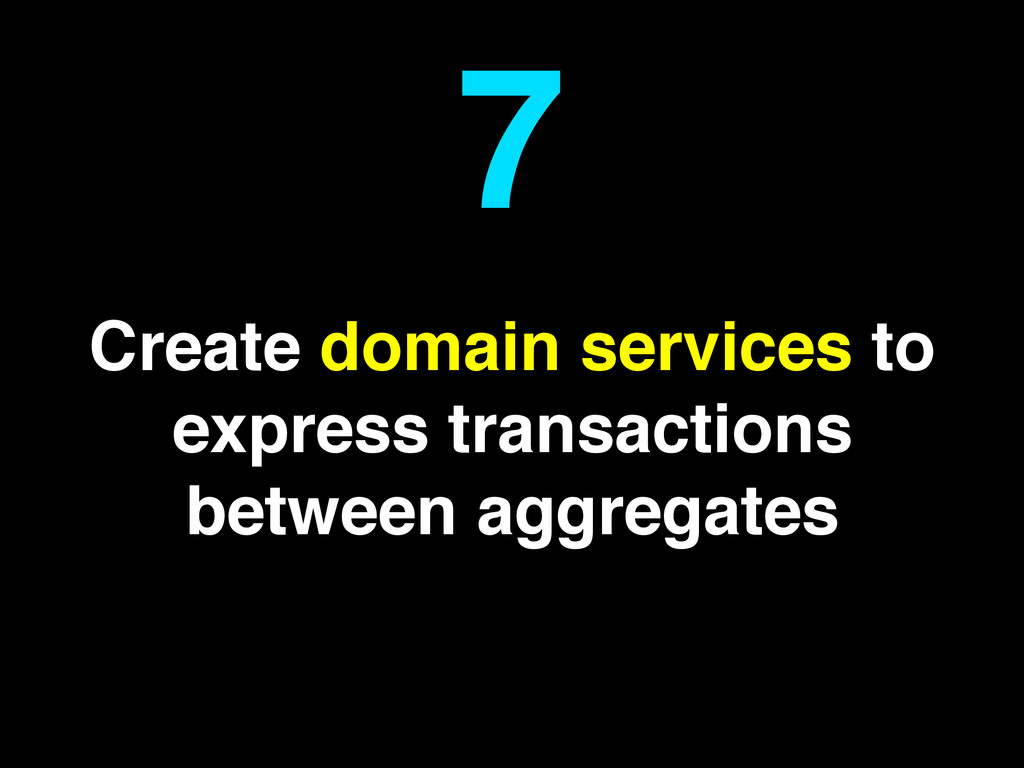 Create domain services to express transactions ...