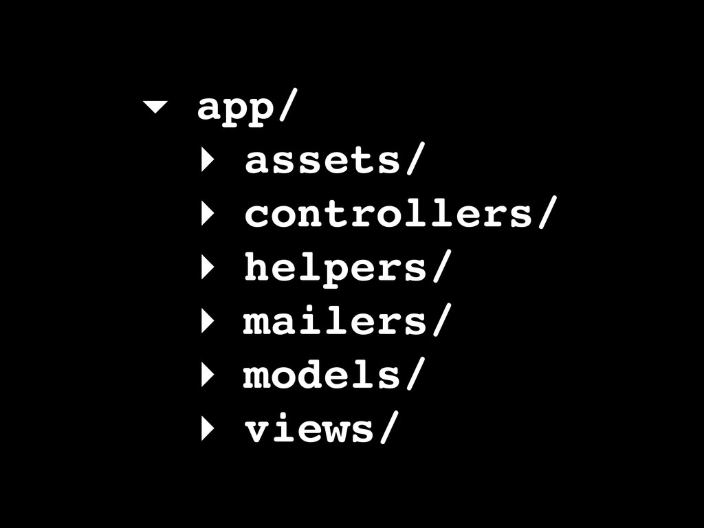 ▾ app/! ▸ assets/! ▸ controllers/! ▸ helpers/! ...