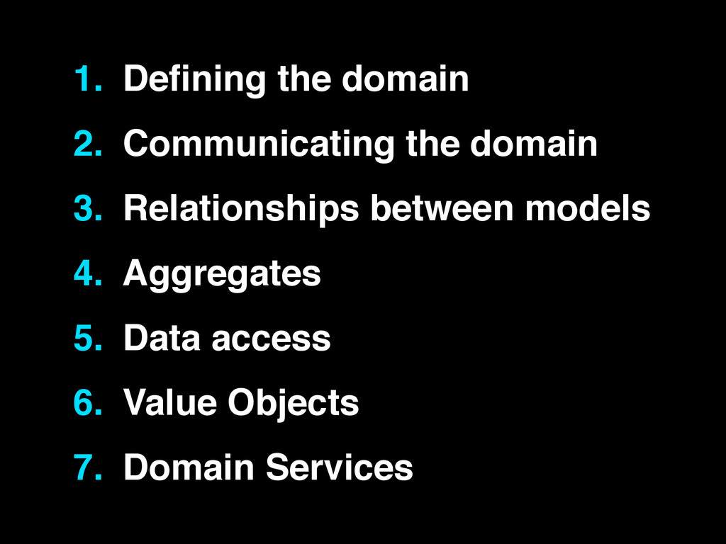 1. Defining the domain! 2. Communicating the dom...