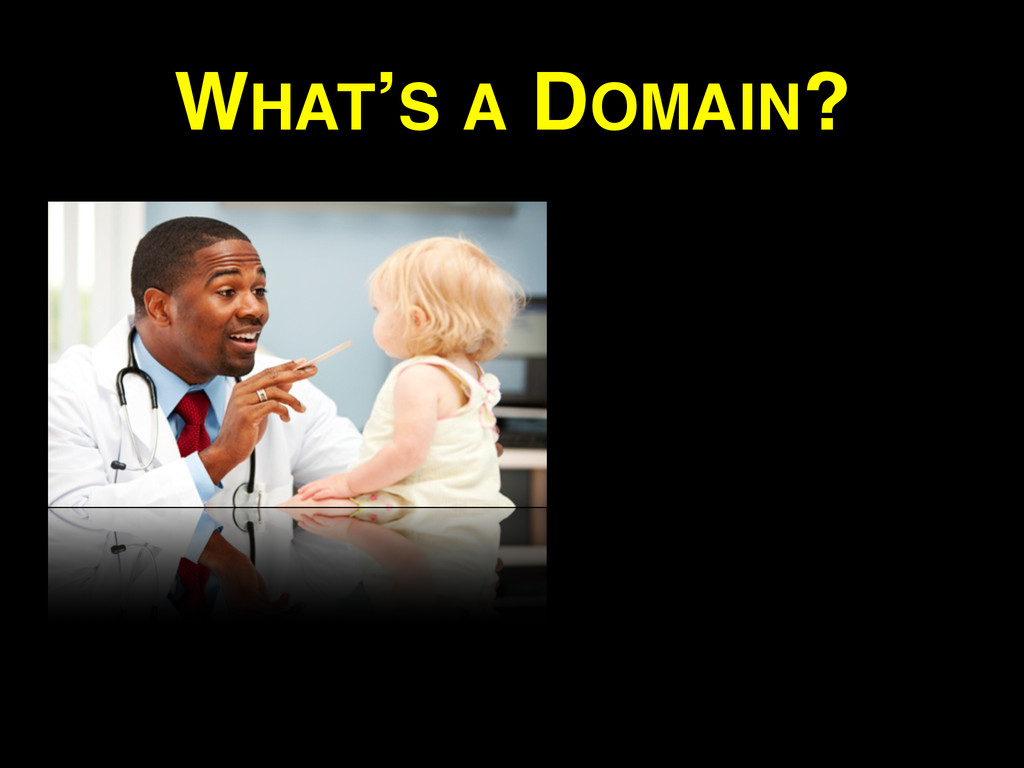 WHAT'S A DOMAIN?