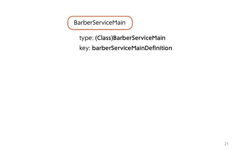21 BarberServiceMain type: (Class)BarberService...
