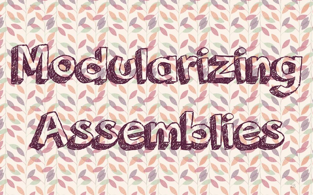 28 Modularizing Assemblies