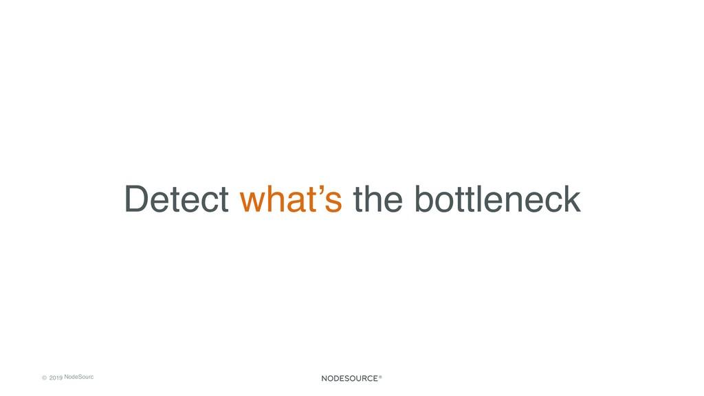 © 2019 NodeSourc e Detect what's the bottleneck