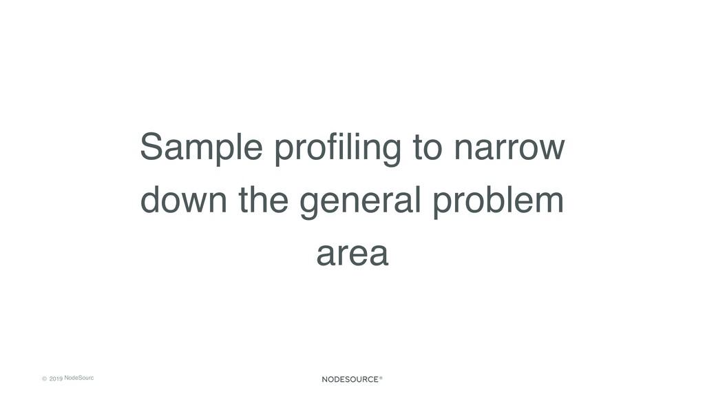 © 2019 NodeSourc e Sample profiling to narrow do...