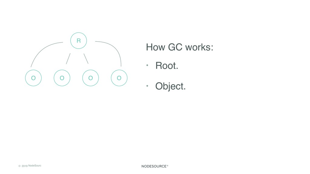 © 2019 NodeSourc e How GC works: • Root. • Obje...