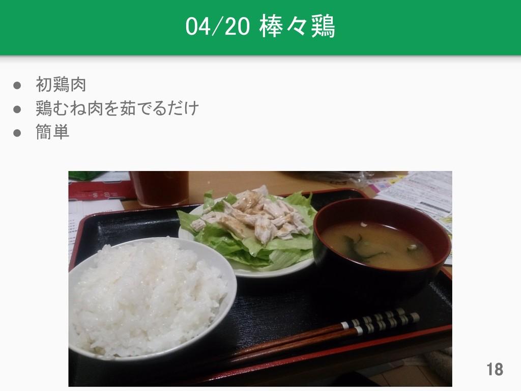04/20 棒々鶏 ● 初鶏肉 ● 鶏むね肉を茹でるだけ ● 簡単 18