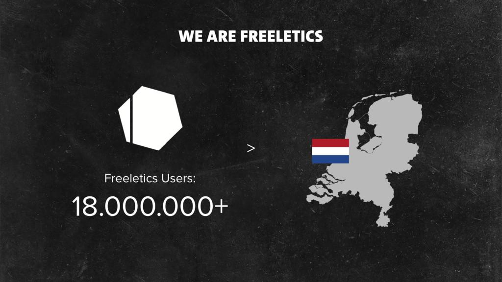 WE ARE FREELETICS 18.000.000+ > Freeletics User...