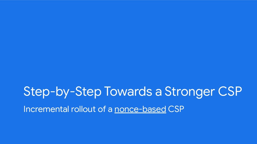Step-by-Step Towards a Stronger CSP Incremental...