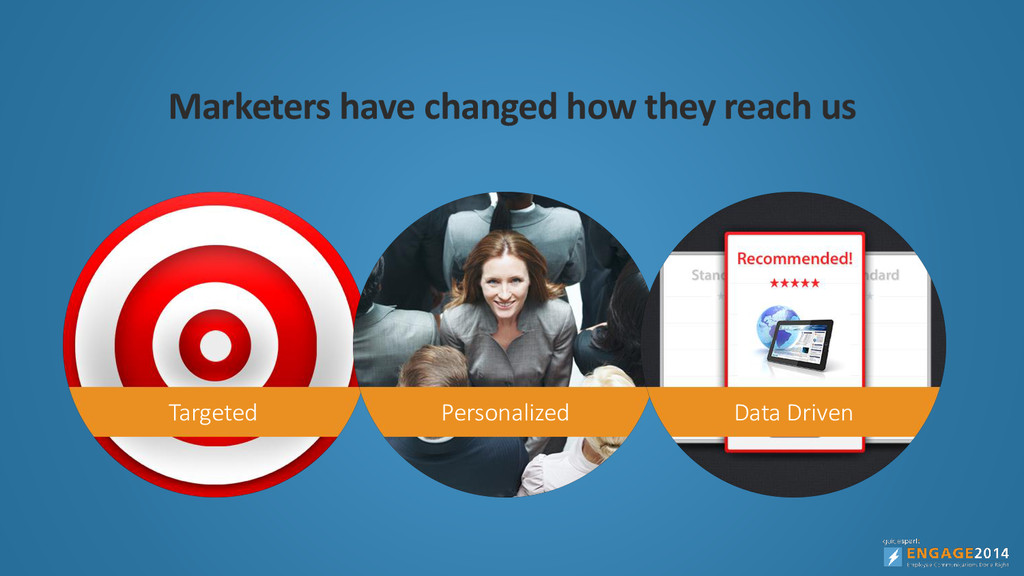 Marketers have changed how they reach us Target...