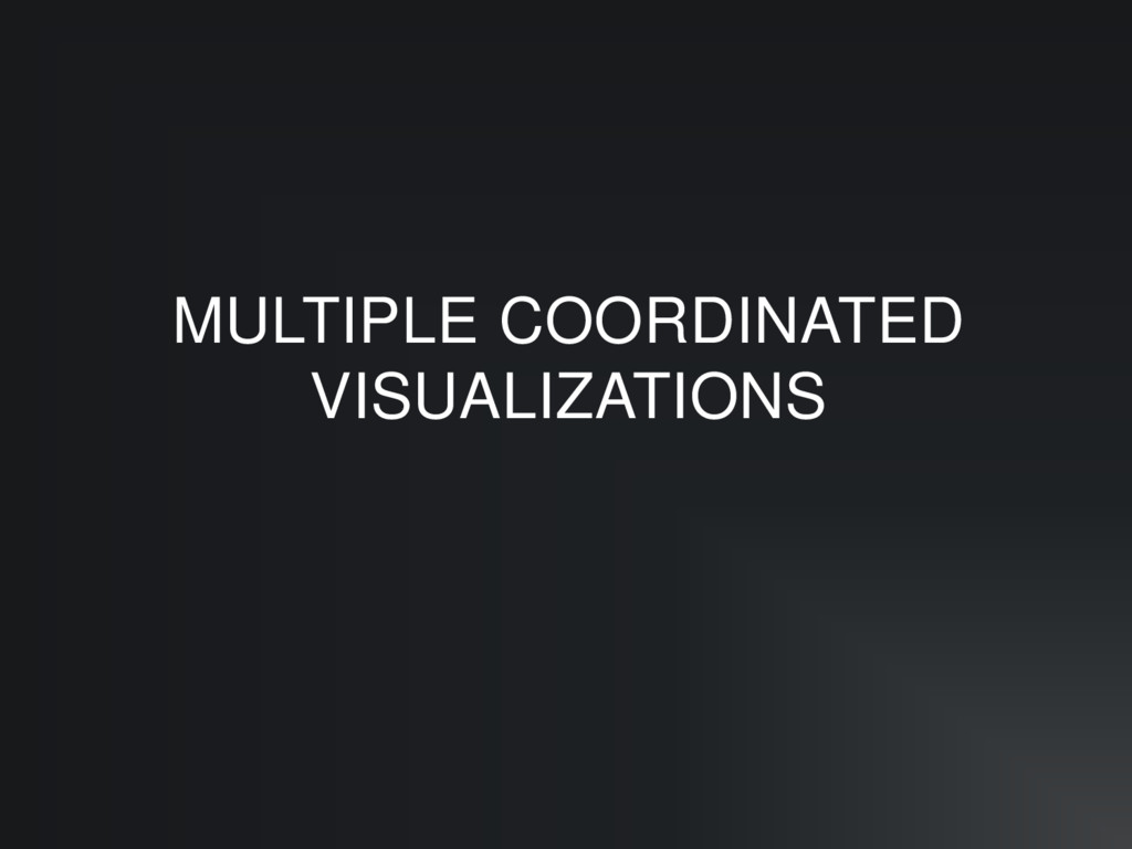 MULTIPLE COORDINATED VISUALIZATIONS