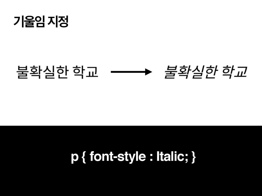 ӝ  p { font-style : Italic; }