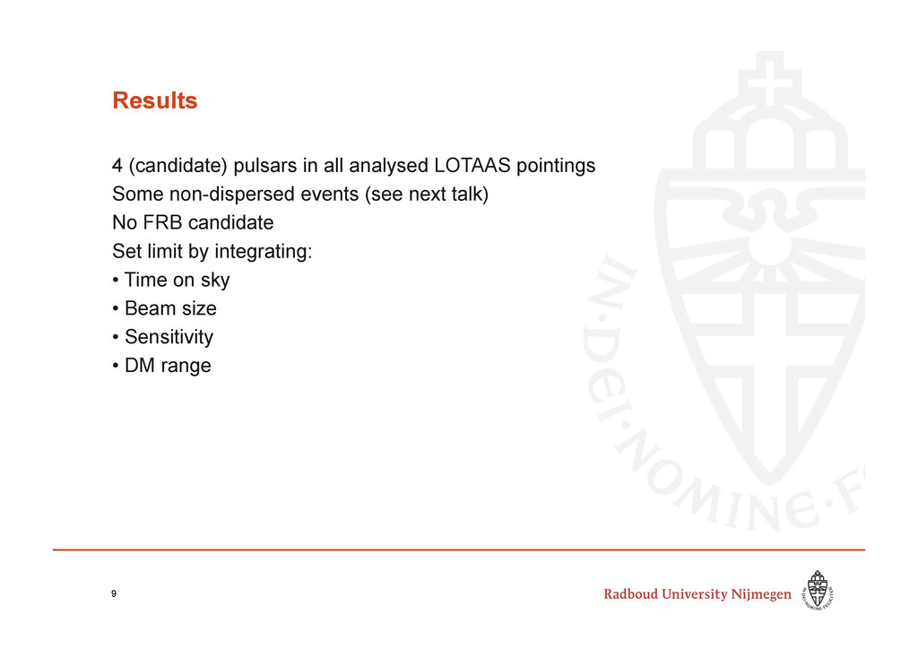 Results 4 (candidate) pulsars in all analysed L...