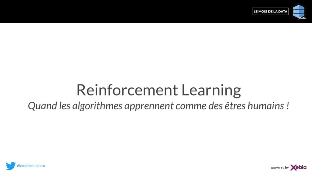 Reinforcement Learning Quand les algorithmes ap...