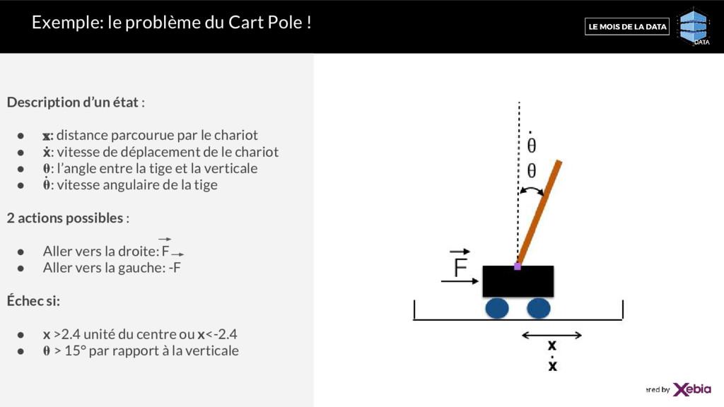 Exemple: le problème du Cart Pole ! Description...