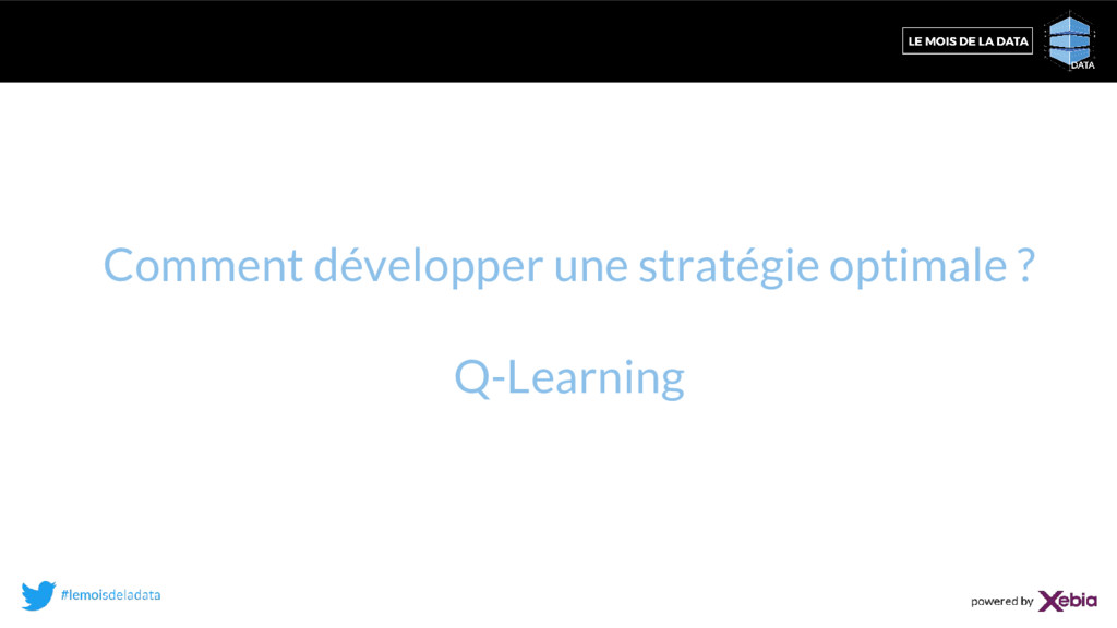 Comment développer une stratégie optimale ? Q-L...