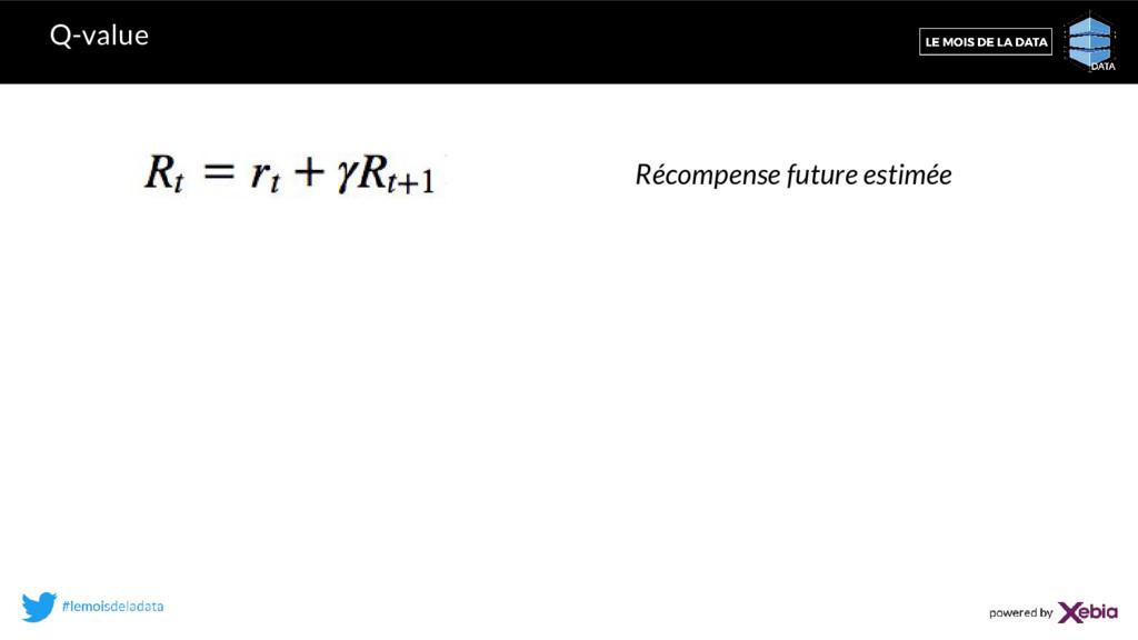 Q-value Récompense future estimée