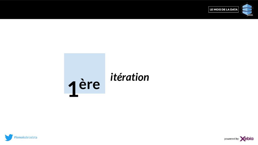 itération 1ère