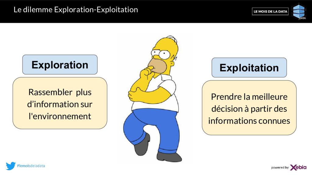 Le dilemme Exploration-Exploitation Prendre la ...