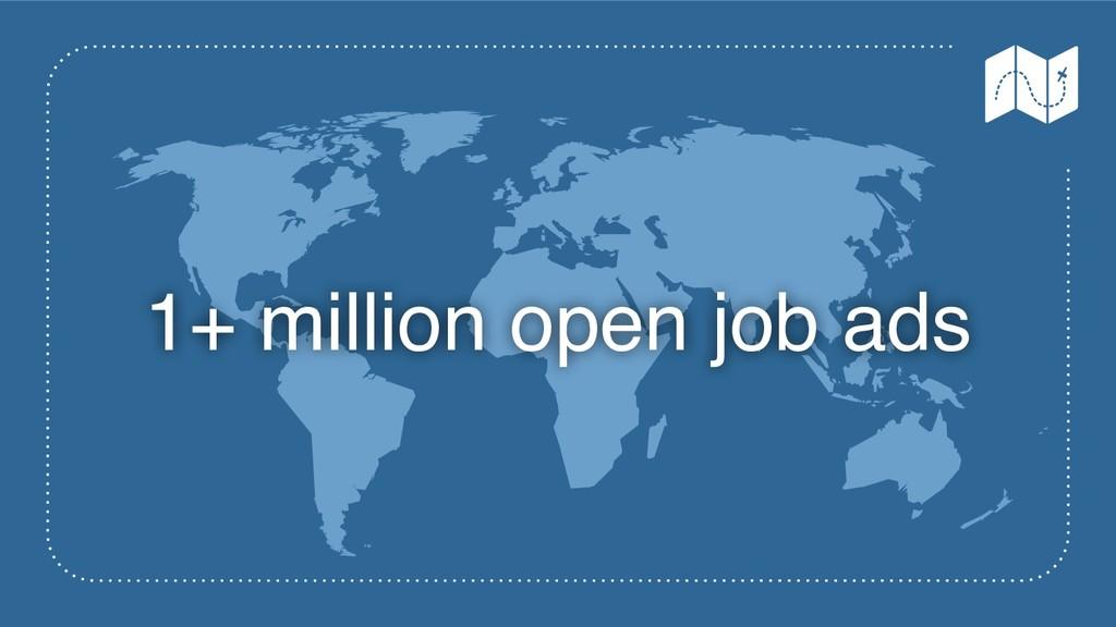 1+ million open job ads