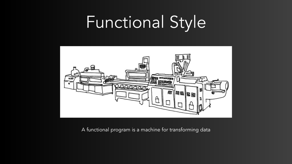 Functional Style A functional program is a mach...