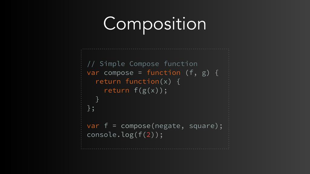 Composition // Simple Compose function var comp...