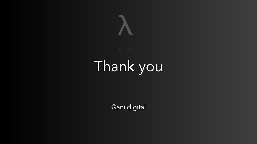 Thank you @anildigital λ