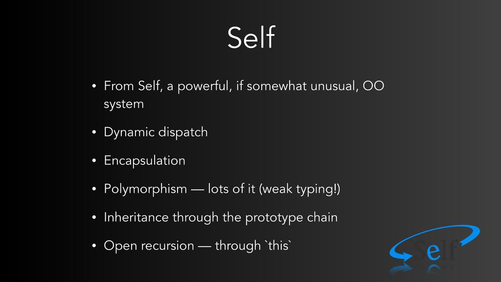 Self • From Self, a powerful, if somewhat unusu...
