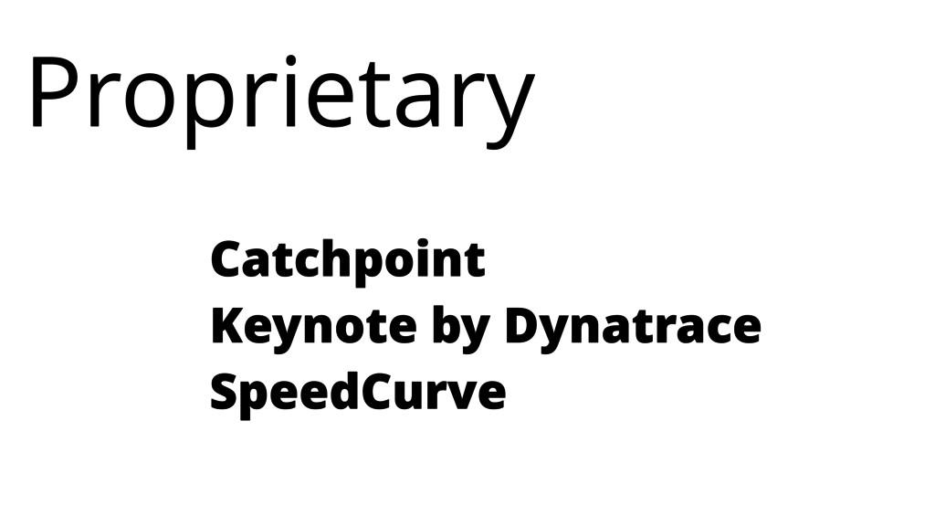 Catchpoint Keynote by Dynatrace SpeedCurve Prop...