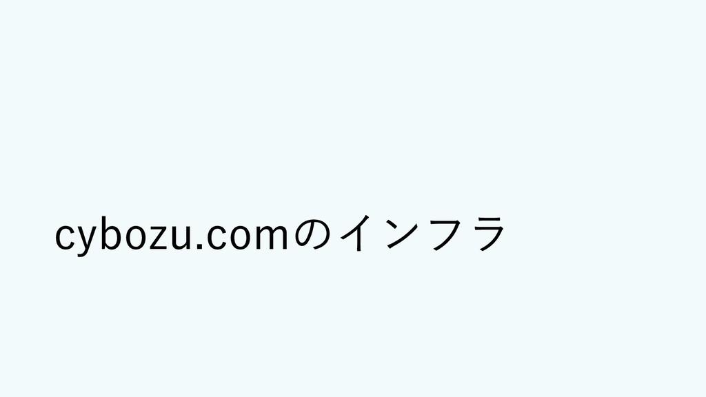cybozu.comのインフラ