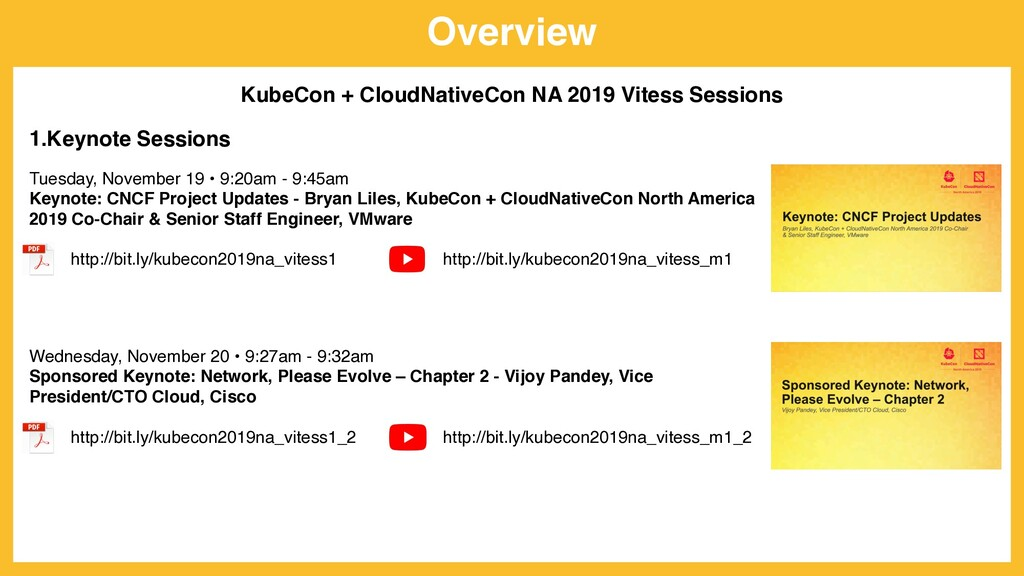 Overview KubeCon + CloudNativeCon NA 2019 Vites...