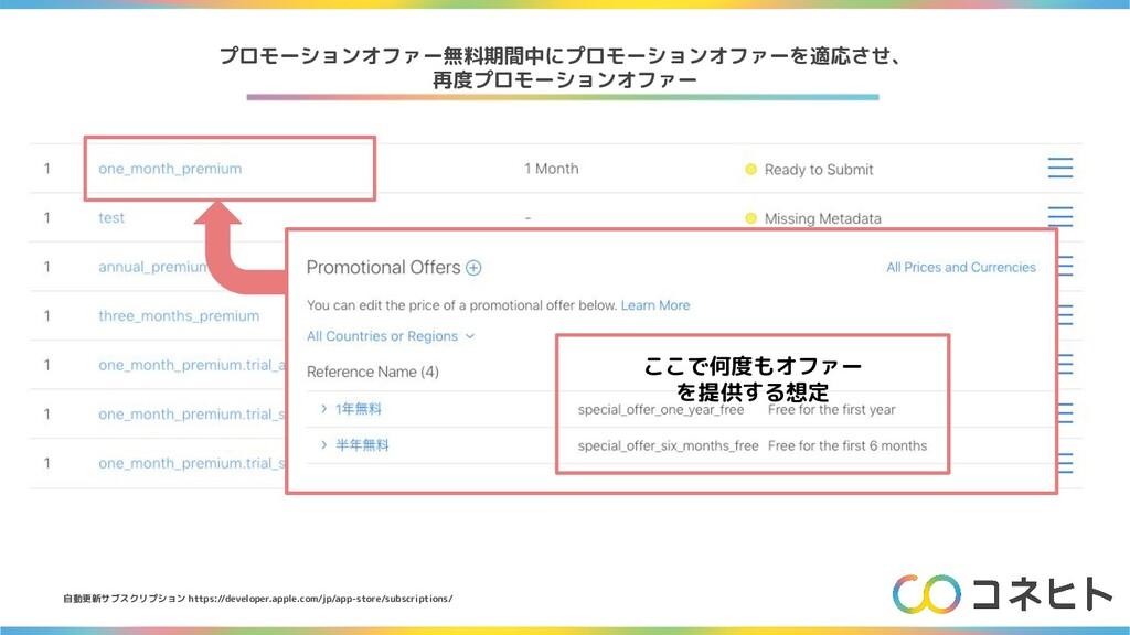 自動更新サブスクリプション https://developer.apple.com/jp/ap...