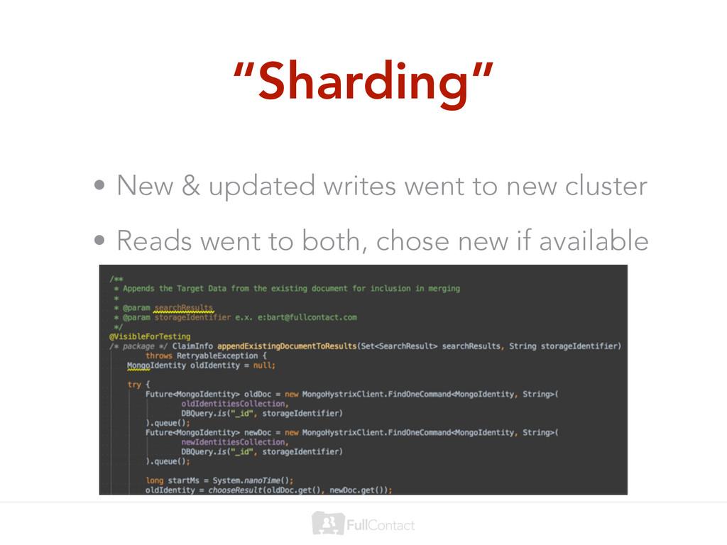 """Sharding"" • New & updated writes went to new c..."