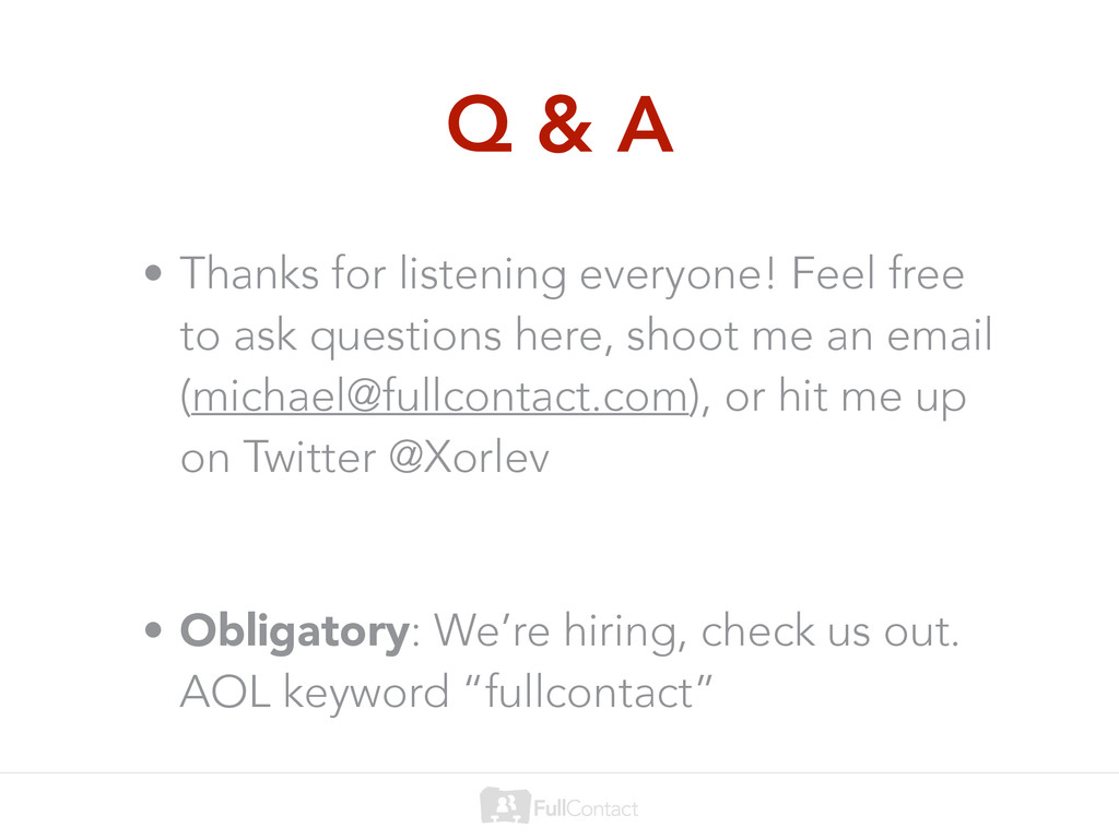 Q & A • Thanks for listening everyone! Feel fre...