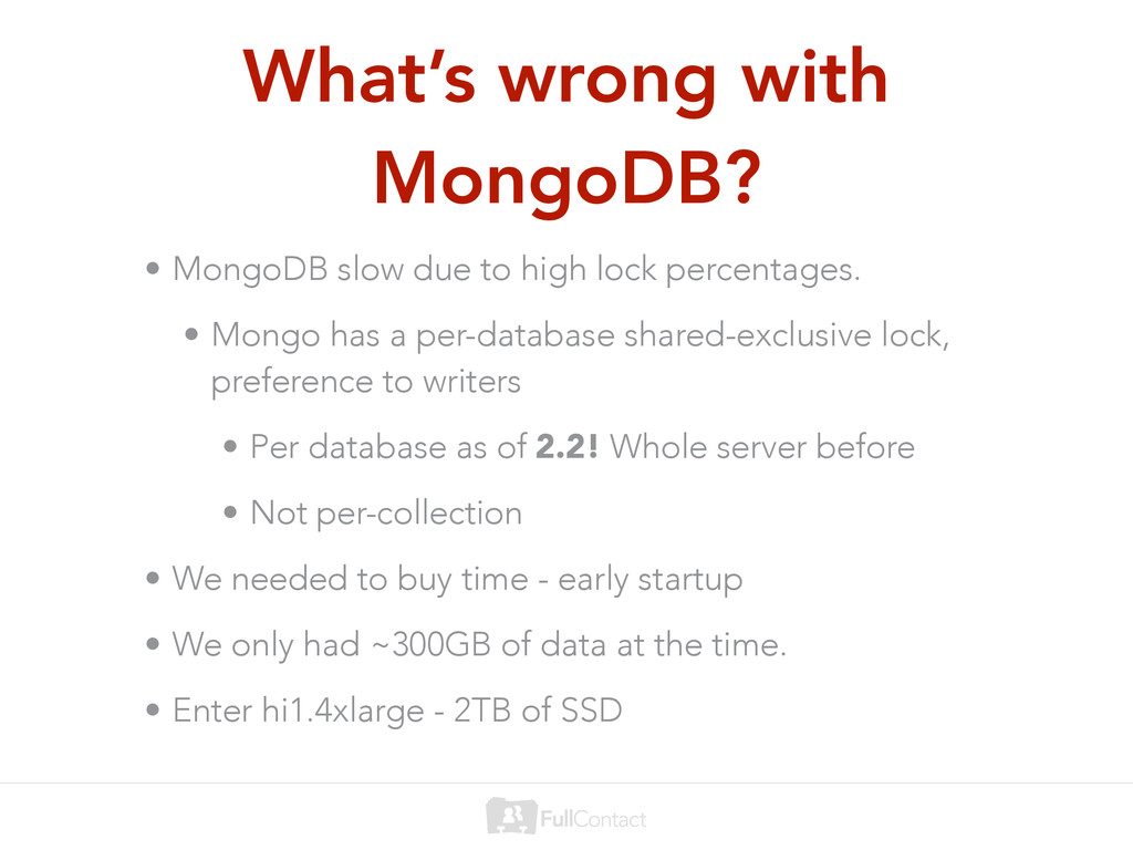 What's wrong with MongoDB? • MongoDB slow due t...