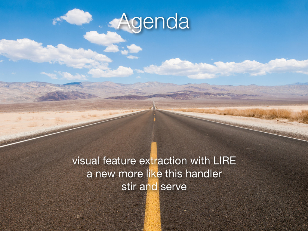 Agenda visual feature extraction with LIRE  a n...