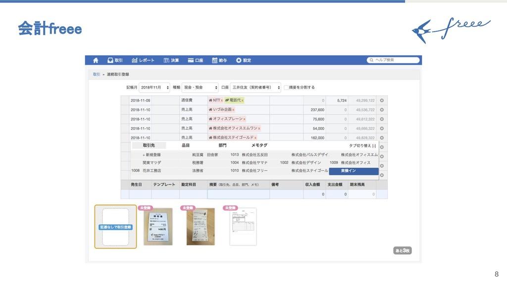 8 会計freee
