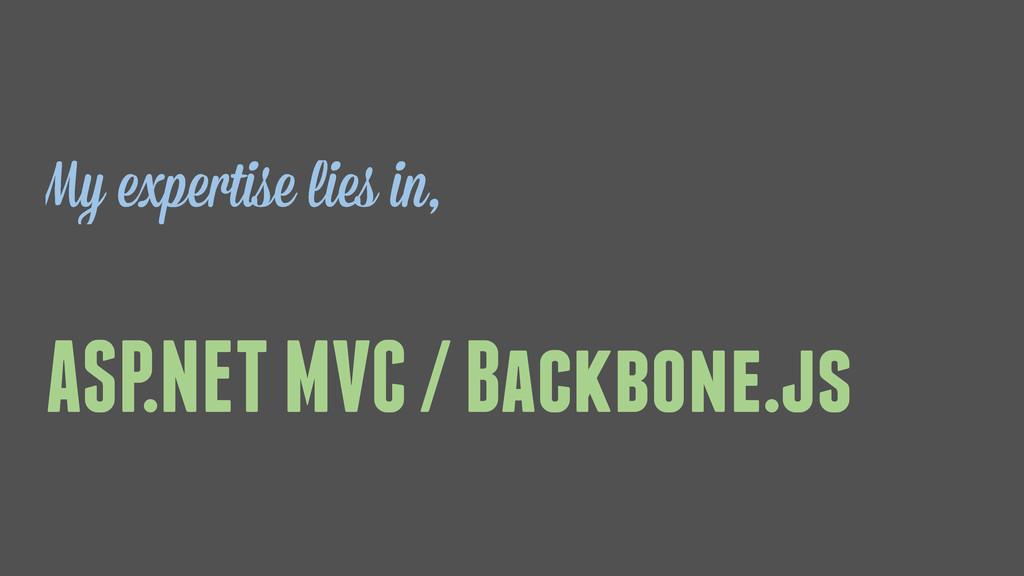 ASP.NET MVC / Backbone.js