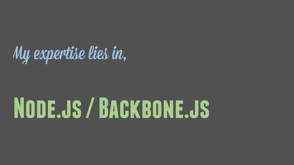Node.js / Backbone.js