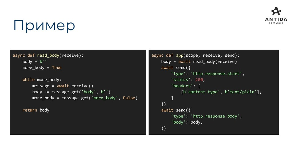 async def read_body(receive): body = b'' more_b...