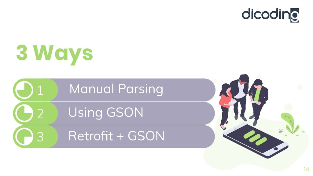 3 Ways 14 3 2 Manual Parsing 1 Using GSON Retro...