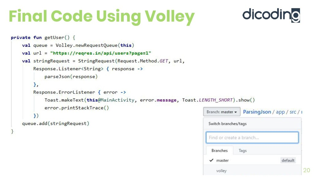 Final Code Using Volley 20