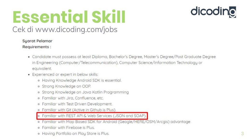 Essential Skill 3 Cek di www.dicoding.com/jobs